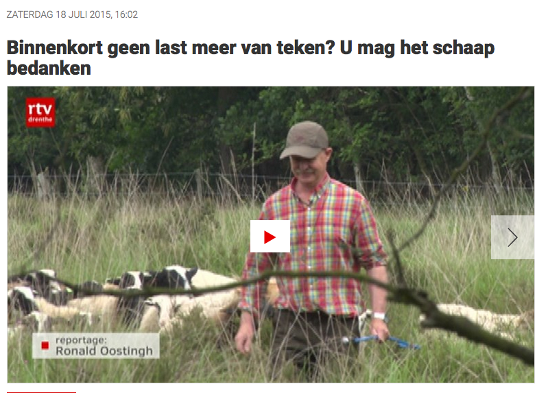 RTV Drenthe U mag het schaap bedanken